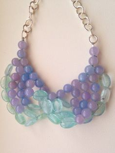 Crackled Agate and Lavender Jade by AdaGJewels on Etsy