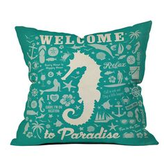 DENY Designs // Anderson Design Group Sea Horse Pattern Throw Pillow