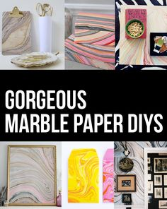 New Obsession: Marbled Paper by Persia Lou