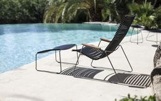 The CLICK Lounge chair and Footrest from Danish Design house HOUE // Designed by Henrik Pedersen