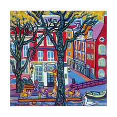 Artprint famous Cafe 't Smalle Amsterdam by Igor Marceau