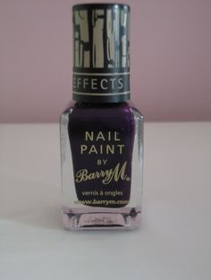 Brand: #BarryM Colour: 322 Nail #Effects 205 (#Purple) Purple looks great with most skin tones, and it looks even greater when worn in a crackle effect on top of a #silver base coat.