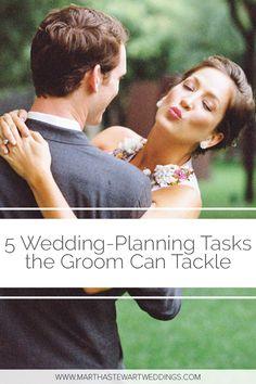 5 Wedding-Planning Tasks the Groom Can Tackle Wedding Advice, Wedding Planning Tips, Budget Wedding, Plan Your Wedding, Groom Duties, Martha Stewart Weddings, Casual Wedding, Wedding Coordinator, Ways To Save Money