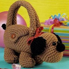Knitted bag-puppy. Description