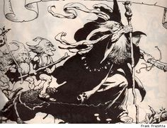 Frank Frazetta's 'Lord of the Rings' Illustrations Make Middle Earth Metal - ComicsAlliance | Comic book culture, news, humor, commentary, and reviews