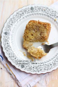 Catatan Nina: SOFT & MOIST BANANA CAKE
