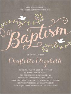 Faithful Flight Girl Baptism Invitation