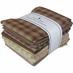 Dunroven House Fat Quarter Bundle - Brown/Natural