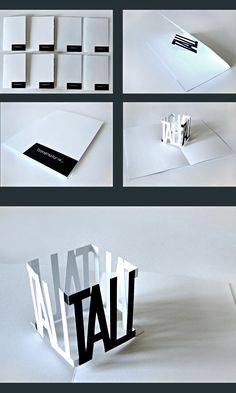 typography • the pop-up book by İsmail Anıl Güzeliş, via Behance