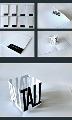 typography • the pop-up book by İsmail Anıl Güzeliş, via Behance