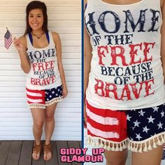 Home of the Free Because of the Brave Tank | Just in time for Fourth of July! | $19.95