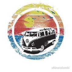 'VW Kombi sunset design' Kids Clothes by ultimatekombi Volkswagen, Vw T1, Surf Design, Vw Caravan, Vw Camper, Vw Bugs, Combi T2, Hippie Wallpaper, Happy Hippie