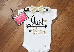 Etsy listing at https://www.etsy.com/listing/285747507/newborn-girl-take-home-outfit-just-born