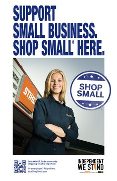 Help spread the word about Small Business Saturday! Download and share our free posters.