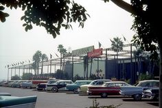 Disneyland Hotel Restaurants and Parking Lot, Anaheim, California, 1960s