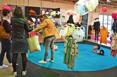 'Surreal utopia' trend space curated by Julie Malait from @thesmallers. Art installation by Hélène B. Caperna http://hbcaperna.blogspot.fr/ #kids #fashion #tradeshow #B2B #winter16 #PlaytimeParis