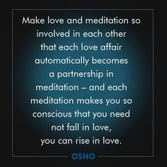 Osho | A love that has no attachment. And is as expansive as the universe.