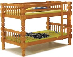 Dakota Honey Pine Solid Wood Twin/Twin Bunk Bed