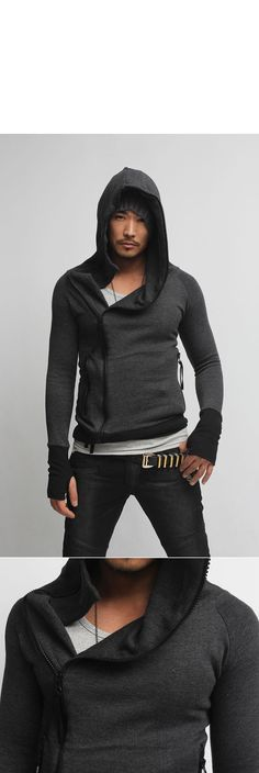 Tops :: In Stock-Avant-garde Arm Warmer-Hoodie 01 - Mens Fashion Clothing For An Attractive Guy Look