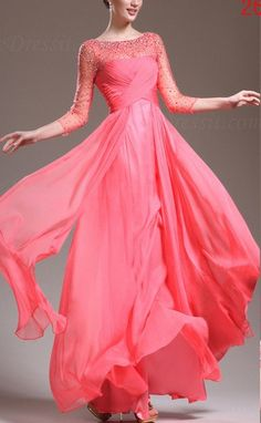 Love, but want in a different color. Hot 2013 NEW 3/4 Sleeve Round Neck Long Evening Dress Prom Ball Gown $298.00
