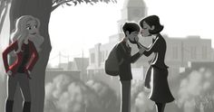 by @megancrisp24 on tumblr - Once Upon a Time in the style of Paperman