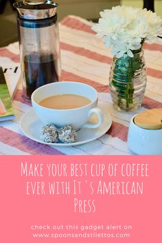 Gadget Alert: American Press Coffee and Tea Maker via @spoonsstilettos
