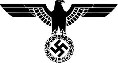 De adelaar met het hakenkruis, het symbool van de NSDAP