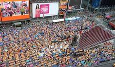 Summer Solstice Yoga Times Square Skyline, Summer Solstice, Karma, Times Square, Basketball Court, Action, Community, Yoga, World