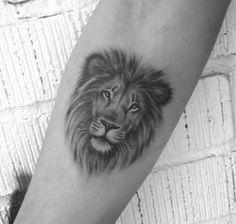 Lion Tattoo 48487 No photo description available. Mini Tattoos, Trendy Tattoos, Flower Tattoos, Black Tattoos, Small Tattoos, Lion Tattoo With Flowers, Lion And Lioness Tattoo, Lion Head Tattoos, Tatoos