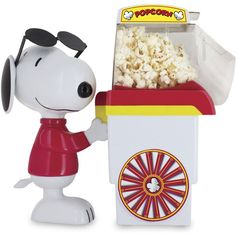 Snoopy Popcorn Cart (40 AUD) ❤ liked on Polyvore featuring home, kitchen & dining, home decor and popcorn cart