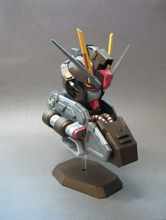 FULL DOWNLOAD: Papercraft [Black Gentle] GAT-X105E Strike Noir Gundam Bust. Info & Link