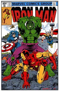 Iron Man 131 variant, Captain America, Thor, Hulk - Bob Layton/Gerry Turnbull Comic Art