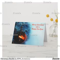 Christmas Bauble Holiday Card