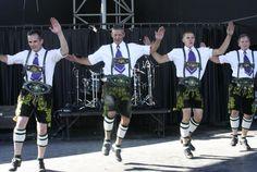 German folk dancers show off their Lederhosen and their dance steps at Germanfest at Maier Festival Park.