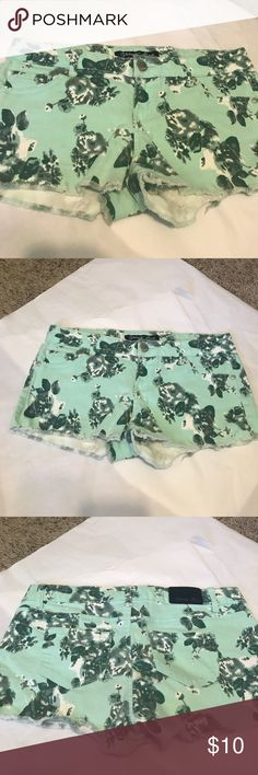 Teal Floral Shorts Teal Floral Shorts, excellent condition! Celebrity Pink Shorts Jean Shorts