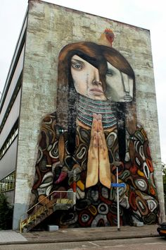 Street art by Dante Horoiwa in Rotterdam, The Netherlands