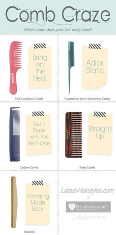 Which comb does your hair type really need? You might be surprised! http://www.latest-hairstyles.com/tools/comb-craze-hair.html