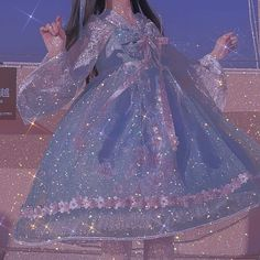 Aesthetic Fashion, Aesthetic Girl, Aesthetic Clothes, Kawaii Fashion, Lolita Fashion, Pretty Outfits, Pretty Dresses, Blue Aesthetic Pastel, Fantasy Gowns