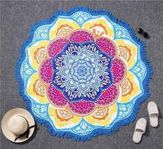 Indian Mandala Tapestry Yoga Blanket