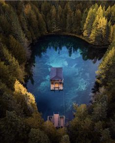Floating cabin on Upper Peninsula, Michigan Lake Cabins, Upper Peninsula, Cabins In The Woods, The Great Outdoors, My Dream Home, Resorts, Places To Travel, Travel Destinations, Beautiful Places