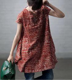 Irregular Bottom Floral Linen Dress by zeniche on Etsy, $51.00
