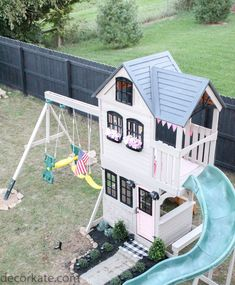 "Fantastic ""playground backyard diy"" detail is available on our web pages. Read more and you wont be sorry you did. Backyard Playset, Backyard Playhouse, Backyard Playground, Backyard For Kids, Kids Playset Outdoor, Girls Playhouse, Playhouse Ideas, Build A Playhouse, Playhouses For Girls"