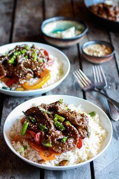 30 Minute Korean Beef + Toasted Sesame Rice | halfbakedharvest.com