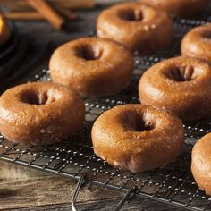 gluten-free vegan donut recipe sounds too good to be true, right? Just when you thought you had to nix your donut habit Apple Cider Doughnut Recipe, Pumpkin Donuts Recipe, Healthy Doughnuts, Baked Donuts, Yummy Donuts, Recipes With Coconut Cream, Coconut Recipes, Gluten Free Vegan Donut Recipe, Paleo