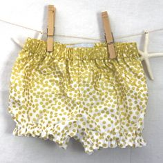 Gold Cascading Polka Dot Bloomers, Handmade by Fun Little Things