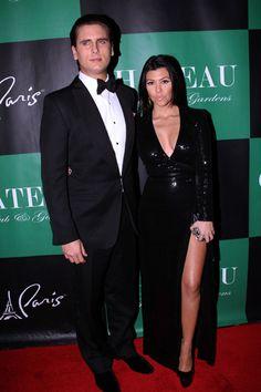 Pregnant Kourtney Kardashians New Years Eve bash at Chateau nightclub