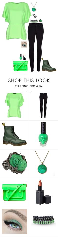 """Green Shine"" by lghockey ❤ liked on Polyvore featuring Maurizio Pecoraro, Citizens of Humanity, Dr. Martens, Wendy Yue, The Cambridge Satchel Company, MAKE UP STORE and Venessa Arizaga"