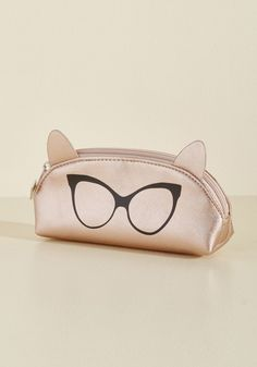 I Can See Ear-ly Now Pouch in Rose Gold