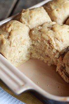 Easy Fluffy Pull-Apart Whole Wheat Buttery Dinner Rolls | halfbakedharvest.com