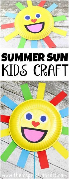 Summer Sun Paper Plate Craft For Kids Frog Activities And Crafts For Preschoolers - The Inspiration Edit Crafts Preschool Preschoolers Kindergarten EYFS KBNmoms homeschooling homeschool Summercrafts teachkids kidsactivities kidscrafts Paper Plate Crafts For Kids, Easy Arts And Crafts, Summer Crafts For Kids, Art For Kids, Preschool Summer Crafts, Kids Fun, Kid Art, Spring Crafts, Easy Crafts With Paper